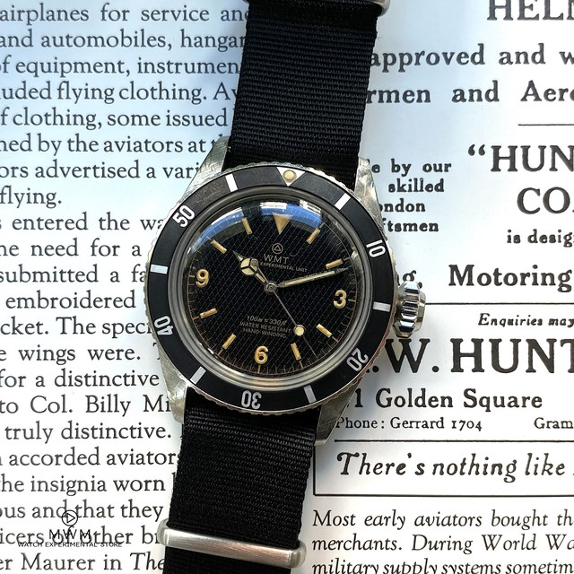WMT WATCH Sea Diver – Honeycomb / Black /  Aged Edition (OLD AGED CASE)