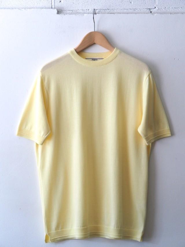 FUJITO C/N Knit T-Shirt Yellow,Top Gray,Khaki,Navy