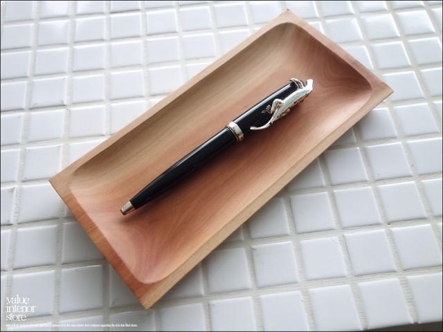 無垢材 ペントレイ コイントレイ 小物入れ 事務用品 筆記用具置き ナチュラル 天然木 ウッドトレイ 手作り シンプル ミネラルオイル仕上げ