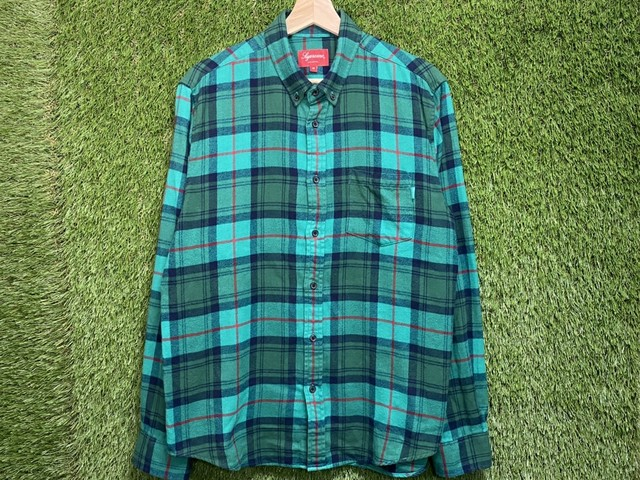 Supreme 18AW TARTAN L/S FLANNEL SHIRT MEDIUM 52.5JH7741