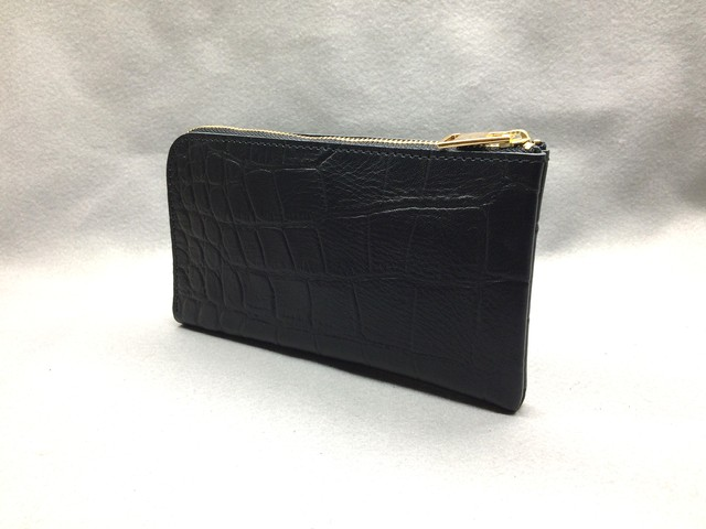 SHOZO Wallet (Lux Croco): Black