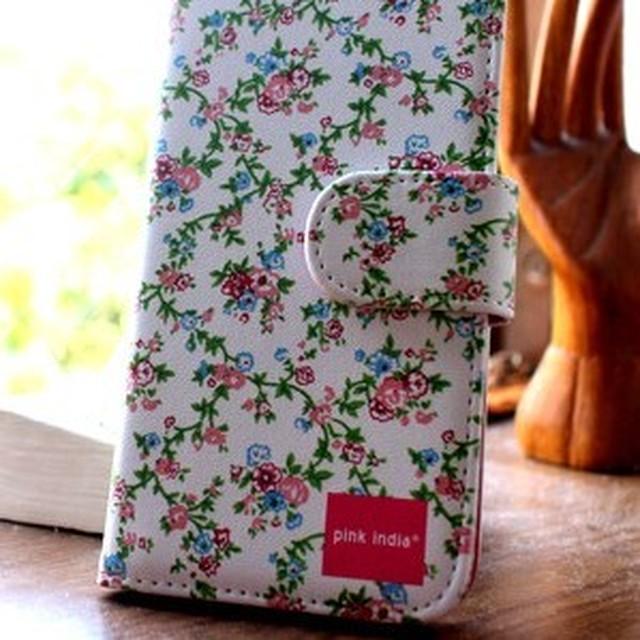 北欧デザイン pinkindia iPhoneケース手帳型 Garden party