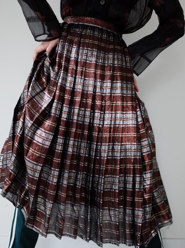 used glitter check skirt