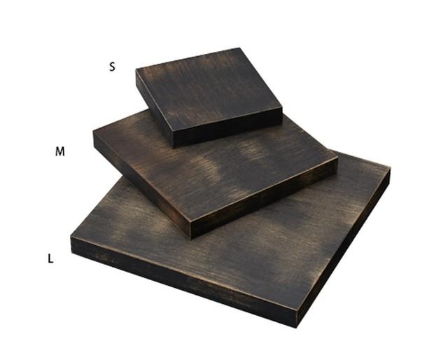 ステージLサイズ木製塗装 アンティーク調ブラック AR-1644AT-L