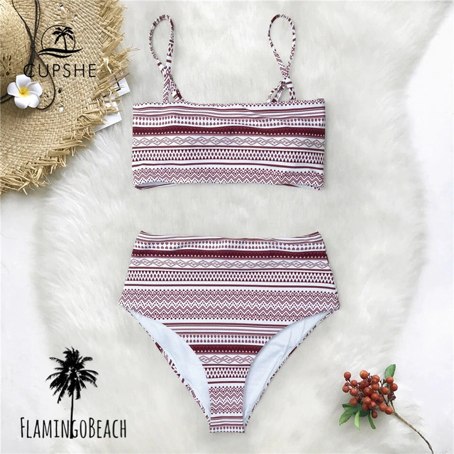【FlamingoBeach】mix border bikini ビキニ