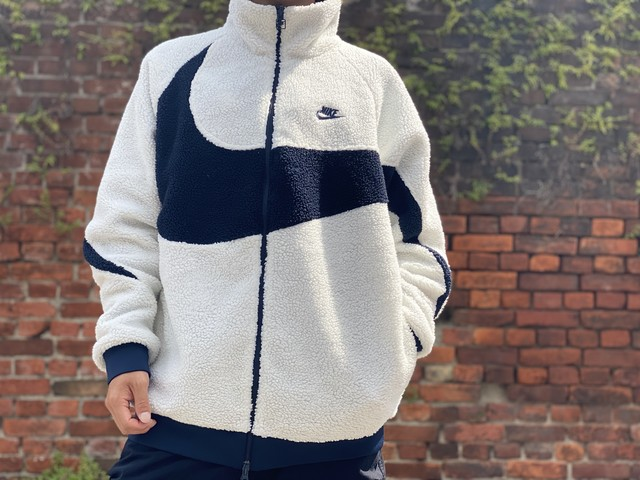NIKE AS NSW BIG SWOOSH BOA FULL ZIP JACKET XL WHITE/BLACK BQ6546-114 60JE6070