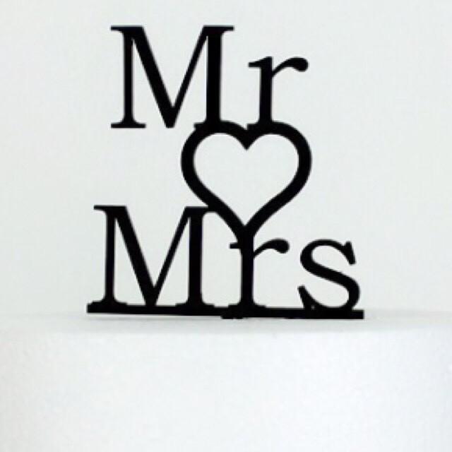 """ケーキトッパー""""Mr ♡ Mrs"""""""