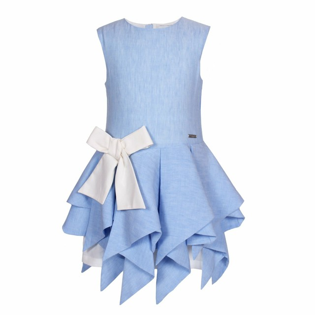 ZIGZAG DRESS  POWDER BLUE =JESSIE AND JAMES=