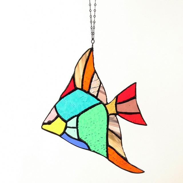 熱帯魚  エンゼルフィッシュ オレンジ/イエロー