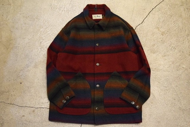USED 80s L.L.Bean Wool Jacket -Medium J0725