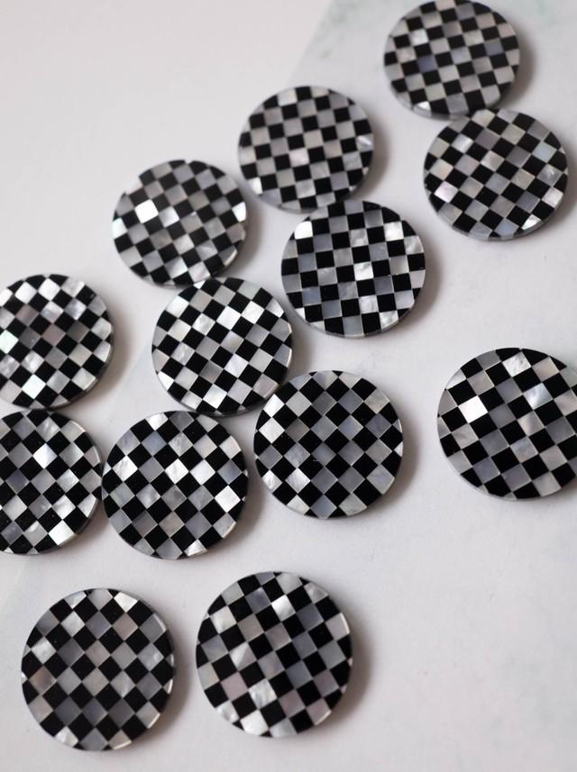 Mosaic Shell  B&W / 4 pieces SET - 003