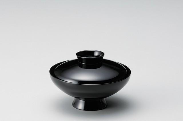 丸小槌型吸物椀 黒