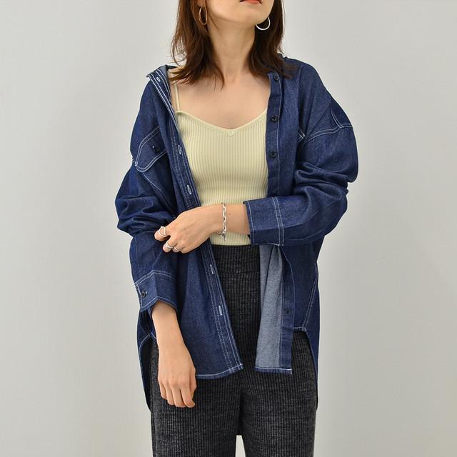 ◆即納◆ドルマン ビッグデニムシャツ V68-83