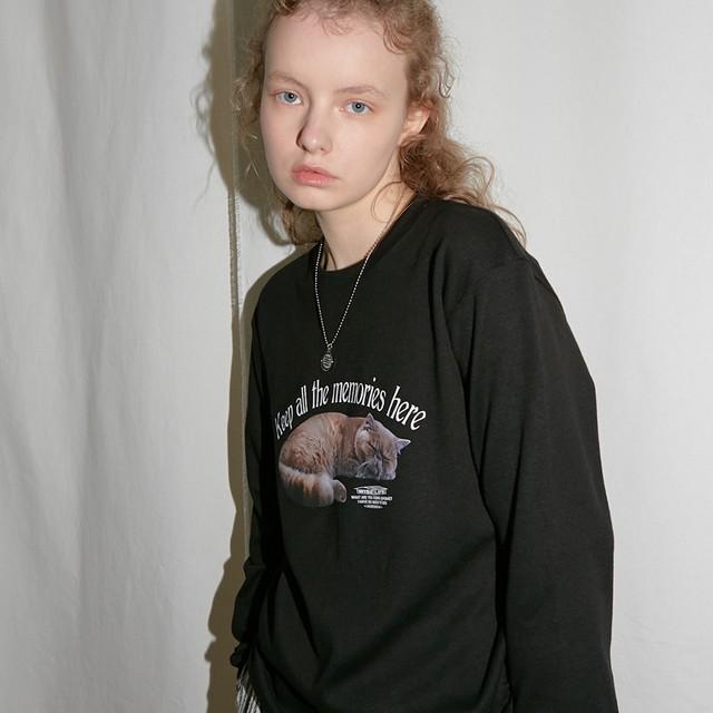 「WWL」ヘビーロングTシャツ ブラック