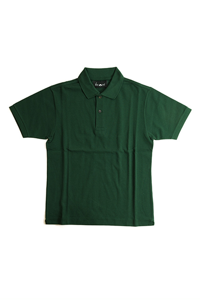 《Made in France》オリジナル 半袖 鹿の子ポロシャツ 2つ釦 〈グリーン〉