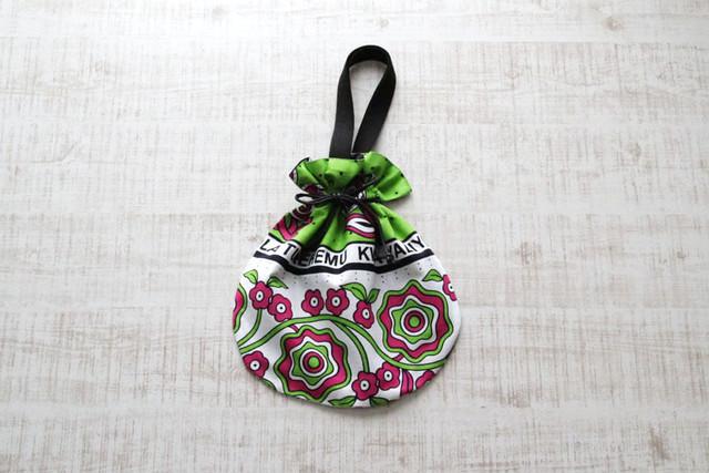 巾着バッグ|カンガ / アフリカ布 / インナーバック