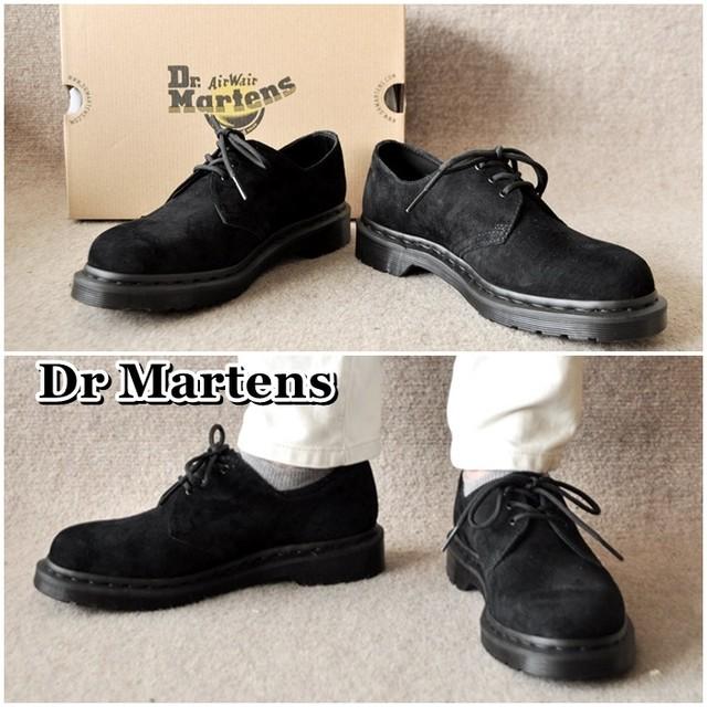 ドクターマーチン DrMartens 1461MONO ヌバックシューズ メンズ レザーシューズ 3ホール 25699001 起毛