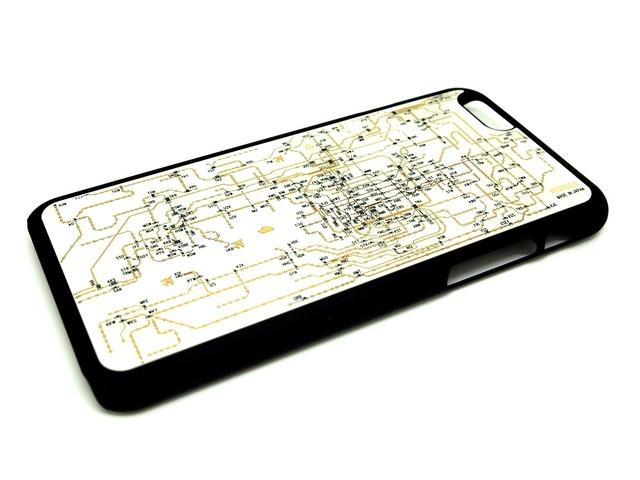 FLASH 関西回路線図 iPhone6/6s  ケース  白【東京回路線図A5クリアファイルをプレゼント】