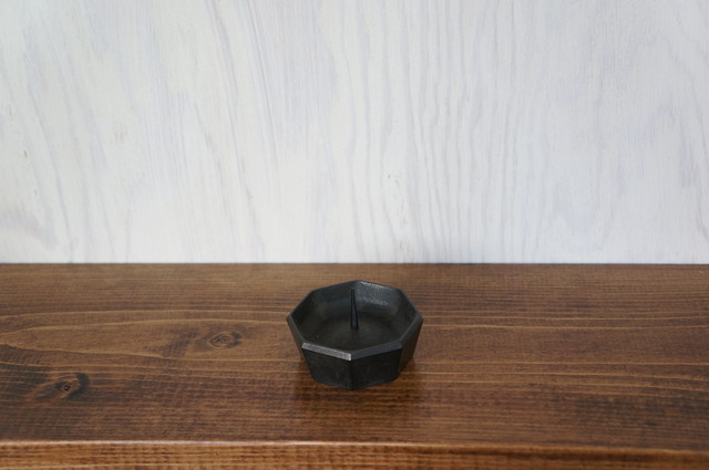 ミニ手燭 黒茶
