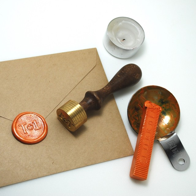 オーダーメイド真鍮製シーリングスタンプ(Mサイズ)