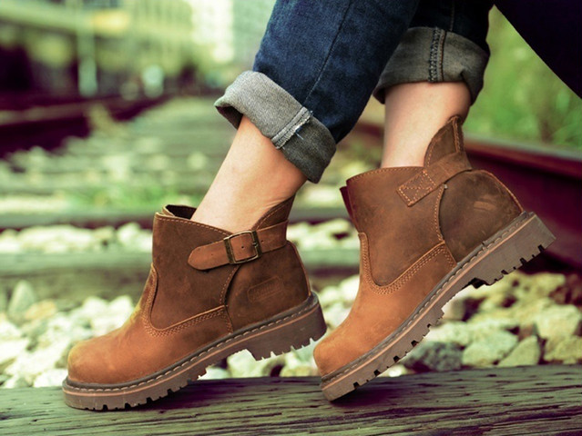 ブーツ ウォーキングシューズ レザー 本革 メンズ シューズ 革靴 軽量 カジュアルshs-369