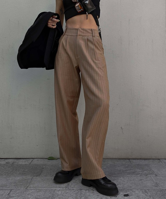 Pin stripe slacks pants