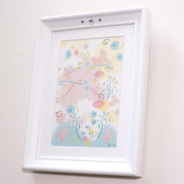 風水 絵画 インテリア おしゃれ 【小天使のひなたぼっこ】