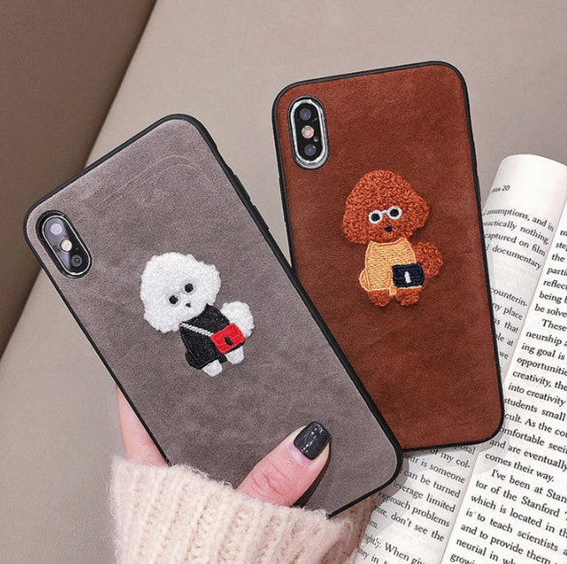 【オーダー商品】Poodle Embroidered iPhone case
