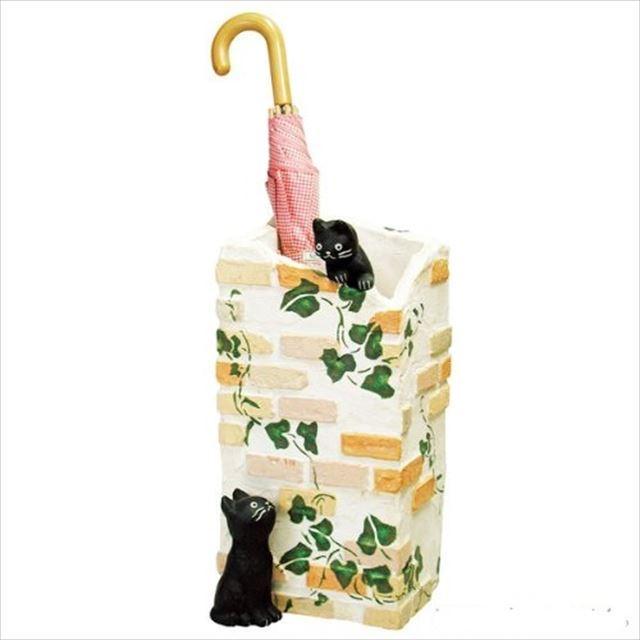ガーデン雑貨 レジン製 黒猫 ラ・カンパーニュ 傘立て SCZ-0402-1000 セトクラフト - メイン画像