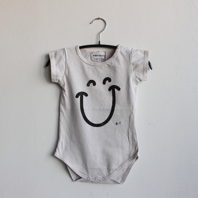 《BOBO CHOSES 2021SS》Big Smile Short sleeve Body / 6-12M