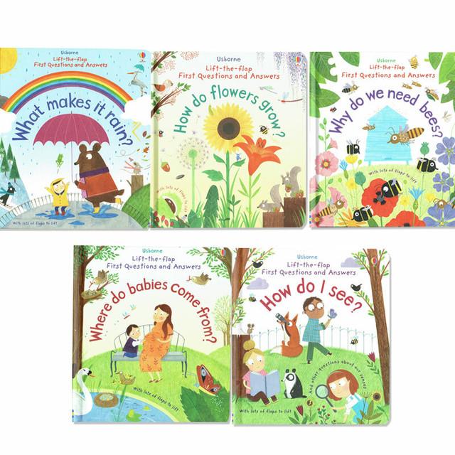 しかけ絵本「虹はどうやってできるの?」など Usborne5冊セット