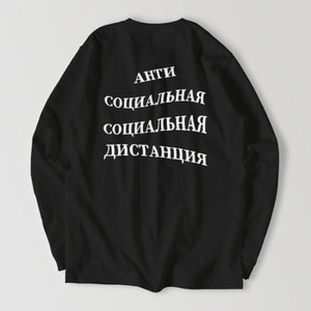 サンクトペテルブルク - 赤(ロングスリーブ:ヘビーウェイト:白)
