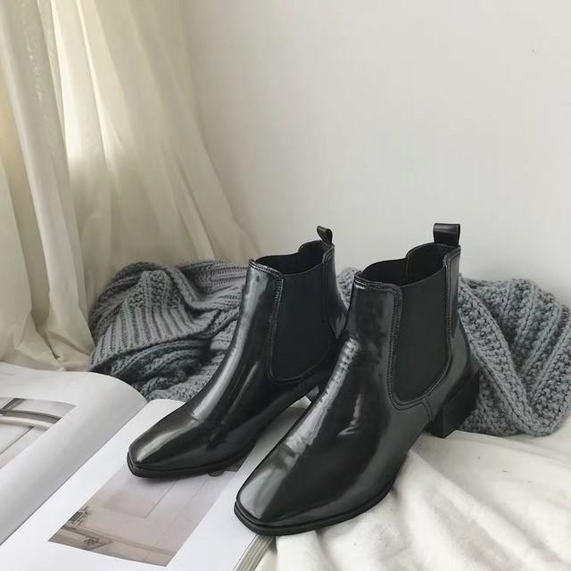 ◆予約◆square toe & heel  boots