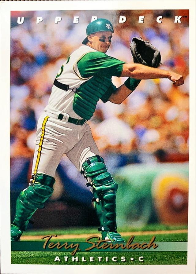 MLBカード 93UPPERDECK Terry Steinbach #278 ATHLETICS