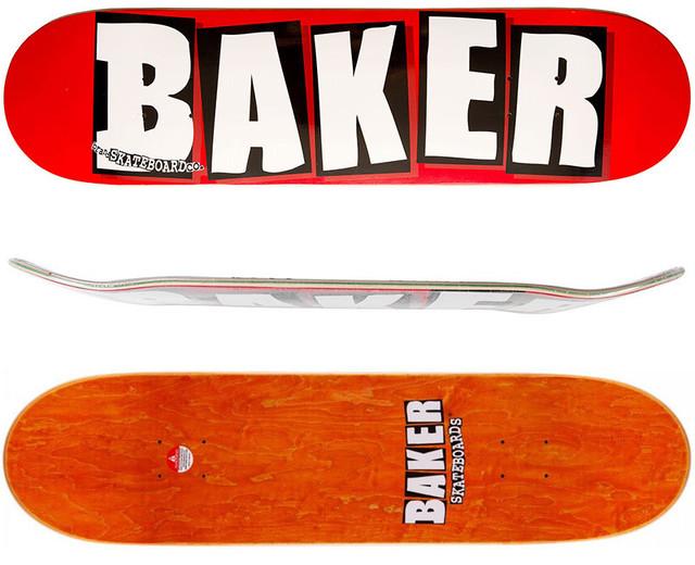 BAKER BRAND LOGO WHITE 8.125
