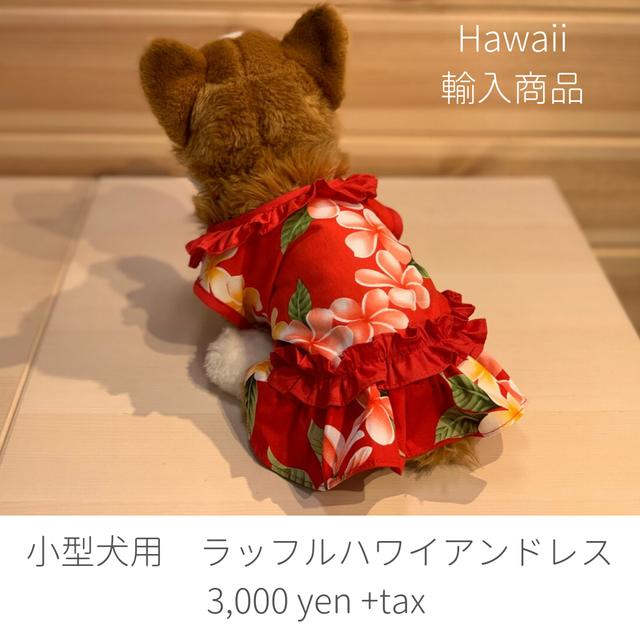 ワンちゃん専用ハワイアンドレス 小型犬用