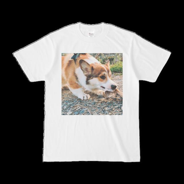 【コーギーTシャツ】引っ張りコーギー【S/M/L/XL】