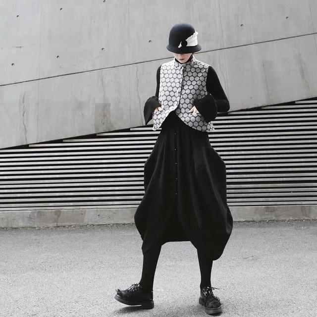 コクーン型チューリップスカート