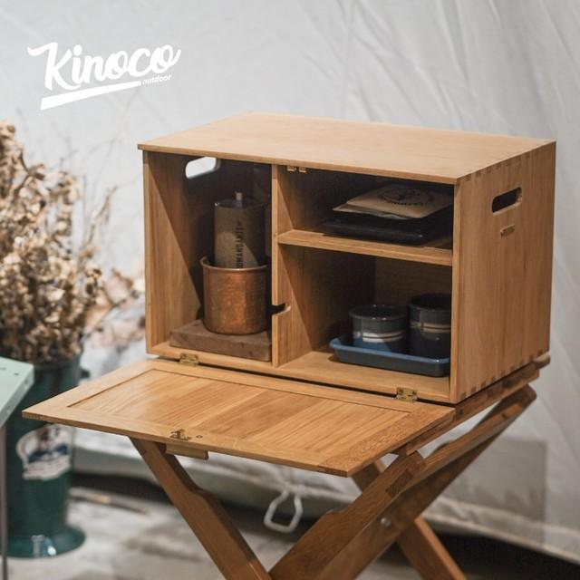 【KINOCO OUTDOOR】コーヒーセット収納ボックス レトロ CG-600