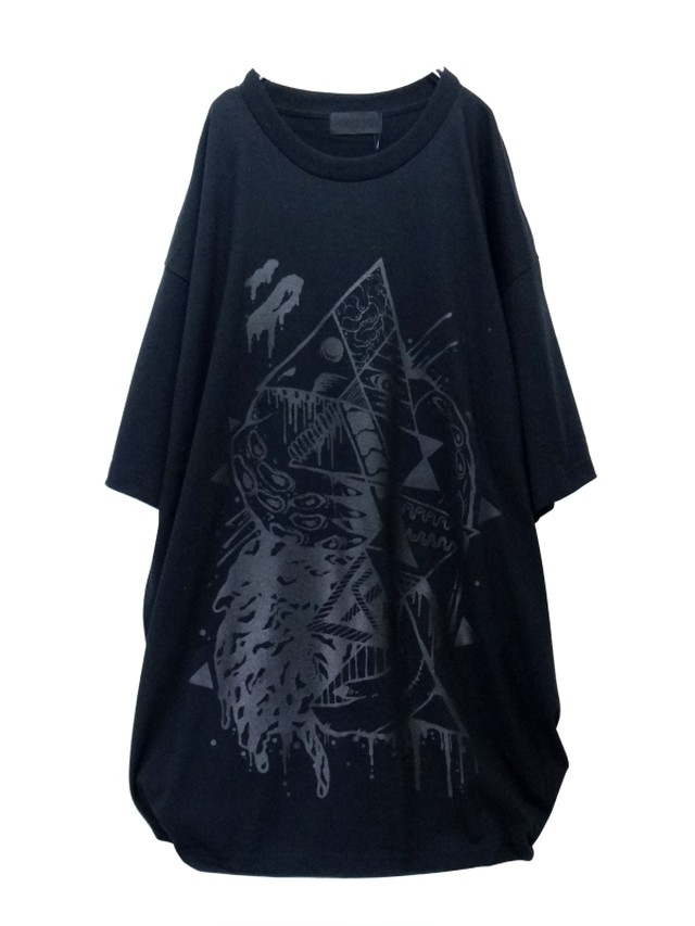 【#000000】  black-BIG_T-shirt#015