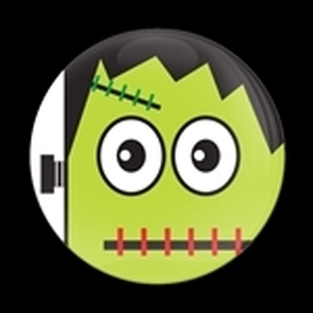 ゴーバッジ(ドーム)(CD0838 - Seasonal Halloween Frankenstein) - メイン画像
