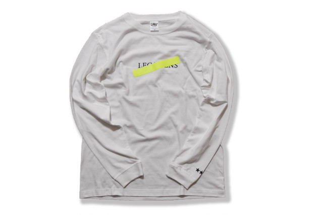 neon logo long sleeve / neon yellow