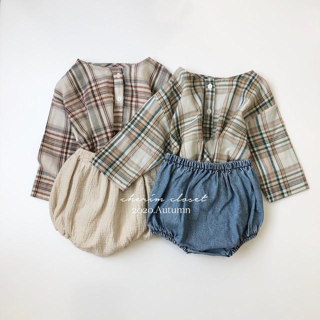 NO.832 check shirt SETUP