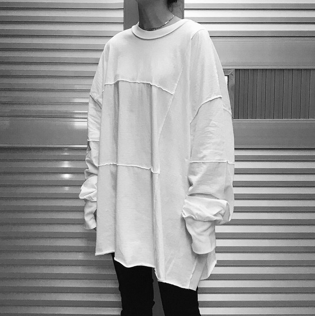 【UNISEX - 1 size】SWITCHING LONGSLEEVE / White