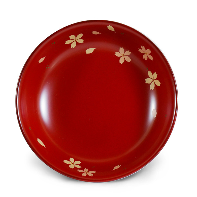 手塩皿4.0本朱 舞さくら(低)