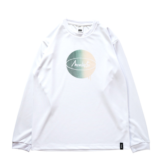 G.BALL stripe L/S PL <White×Green×Beige> - メイン画像