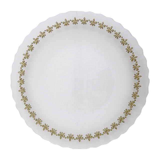 Gold lily glas plate 27cm / ゴールドリリーガラスプレート27cm