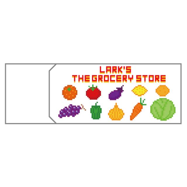 消しゴム LARK'S THE GROCERY STORE お野菜&ラークさん柄 ドット絵