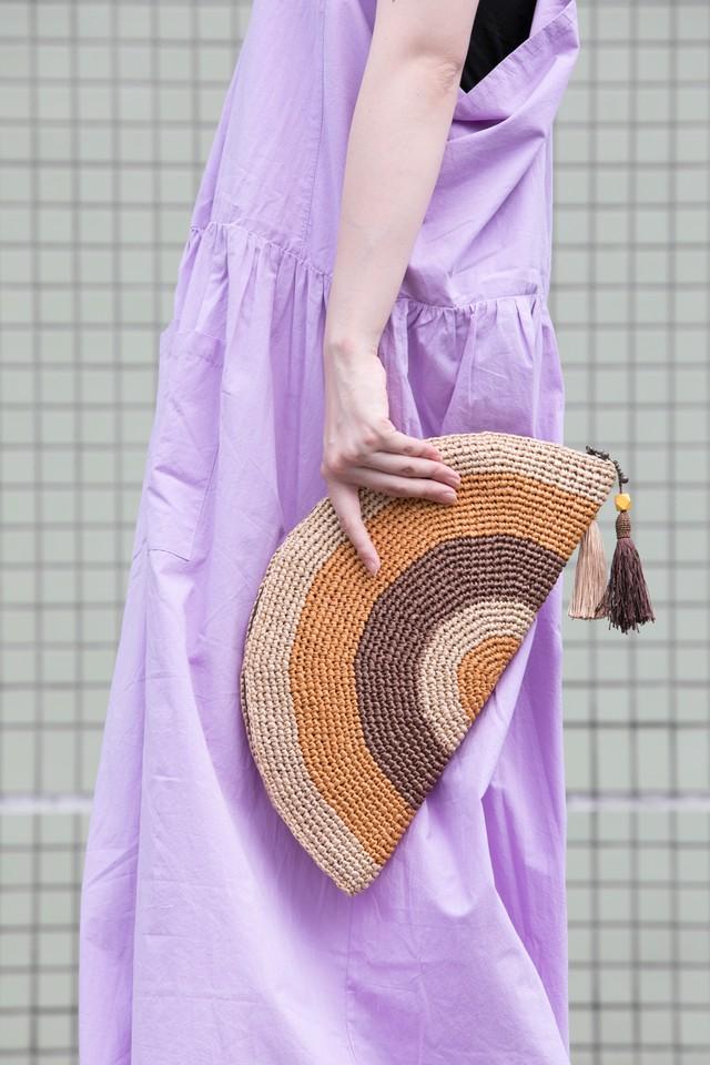 【MIKACHU WORLD】clutch bag (brown)