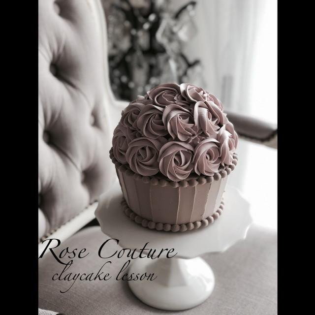 ⬛️添削サポート付き+ブラッシュアップ動画レッスン Big cup cake  の作り方(シュガークレイデザインレッスン修了者が購入頂ける商品です)